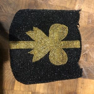 Old 80!s clutch with beaded bow!
